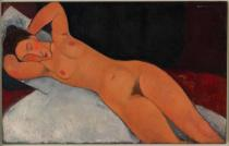 Amedeo Modigliani, Nude, 1917. Solomon R. Guggenheim Museum, New York, Solomon R. Guggenheim Founding Collection