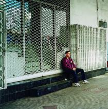 Yto Barrada, Man sitting, Casablanca 2001. Courtesy Sfeir-Semler Gallery, Hamburg/Beirut
