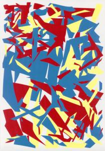 "Imi Knoebel, untitled, from \""Gelb/Rot/Blau\\\"", 1993, Deutsche Bank Collection, � VG Bild-Kunst, Bonn 2009"