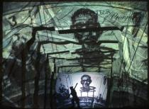 William Kentridge, Black Box/Chambre Noire, 2005. Photo: John Hodgkiss. Deutsche Guggenheim. © William Kentridge
