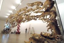 Cai Guo-Qiang, Head On, 2006, installation at the Deutsche Guggenheim, Berlin