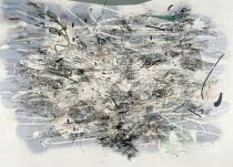 Julie Mehretu, Middle Grey, 2007-2009