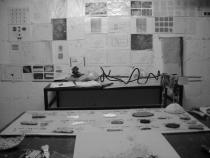 In Iza Tarasewicz's studio. Photo: Iza Tarasewicz