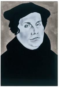 Wilhelm Sasnal, Luther, 2003. Sammlung Goetz, Munich. © Courtesy Johnen Galerie, Berlin, Photo: Achim Kukulies, Düsseldorf