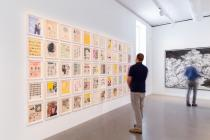 The World on Paper, installation shot (Ellen Gallagher and Ugo Rondinone). © Mathias Schormann