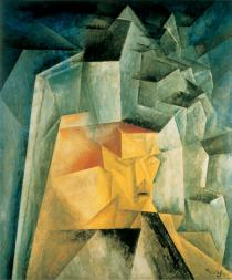 Lyonel Feininger, Kopf in Architektur, 1917. Deutsche Bank Collection. © VG Bild-Kunst, Bonn 2016