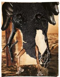 Wangechi Mutu, Elephant Stand, 2011. Courtesy the Artist and Victoria Miro Gallery, London. � Wangechi Mutu