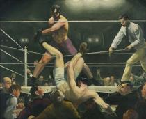 George Bellows , Dempsey and Firpo, 1924. Whitney Museum of American Art, New York. Photograph by Sheldan C. Collins