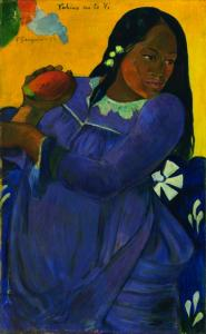 Paul Gauguin, Vahine no te vi (Woman of the Mango), 1892.  Oil on canvas.  The Baltimore Museum of Art: The Cone Collection, formed by Dr. Claribel Cone and Miss Etta Cone of Baltimore, Maryland, BMA 1950.213.