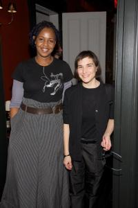 Wangechi Mutu, Deutsche Bank's Artist of the Year 2010, and curator Nancy Spector, member of the bank's Global Art Advisory Council