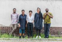 Curatorial team of the 10th Berlin Biennale for Contemporary Art, f. l. t. r.: Thiago de Paula Souza, Gabi Ngcobo, Nomaduma Rosa Masilela, Yvette Mutumba, Moses Serubiri, photo: F. Anthea Schaap
