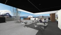 The new Sculpture Terrace, a spectacular space for art overlooking Sydney Harbour. Rendering � Museum of Contemporary Art Australia