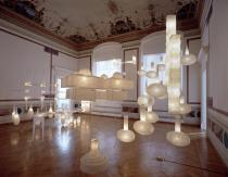 "Carlos Garaicoa, From the Series ""Nuevas Arquitecturas"" / ""New Architectures"", 2003. Installation. Japanese rice paper, wire, electric light. Photo: Ela Bialkowska. Courtesy of the Artist and Galleria Continua (San Gimingnano-Beijing-Le Moulin)"