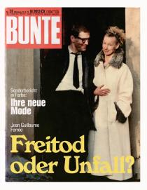 "Dirk Dietrich Hennig, BUNTE 1974, 2010. Part of the project ""Jean Guillaume Ferrée"". Printed magazine"
