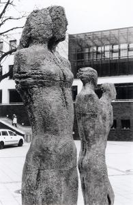 "Eberhard Linke, Female stele and double-stele from ""Dortmunder Annäherung"", 1997/98. Courtesy the artist"