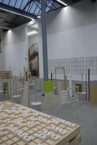 "Rivane Neuenschwander/ Haegue Yang, ""Escaping Things and Words"". Exhibition view, Kunsthalle Lingen. Photo: Courtesy Kunstverein Lingen Kunsthalle"