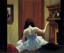 Edward Hopper, New York Interior, ca. 1921. Whitney Museum of American Art, New York. ©Heirs of Josephine N. Hopper, licensed by the Whitney Museum of American Art. Photograph by Robert E. Mates