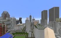 Tiatan City, still from Minecraft Computer Game, as part of the exhibition contribution by Joseph Grima, Martina Muzi and Space Caviar, Blockchain, 2015