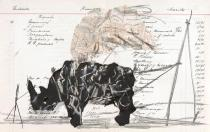 "William Kentridge, untitled, drawing for ""Black Box/Chambre Noire"", 2005.  Photo: John Hodgkiss. Deutsche Guggenheim. © William Kentridge"
