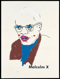 Glenn Ligon, Malcolm X (Version 1) #1, 2000. Collection of Michael and Lise Evans. Courtesy of the artist and Regen Projects, Los Angeles. © Glenn Ligon