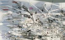 Julie Mehretu, Middle Grey (detail), 2007-2009