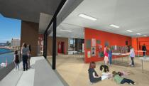 A hub of art and creative learning: new spaces for workshops. Rendering � Museum of Contemporary Art Australia