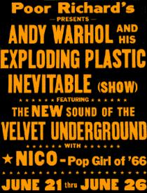 "Poster announcing ""Exploding Plastic Inevitable"", 1966"
