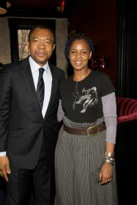 Wangechi Mutu, Deutsche Bank's Artist of the Year 2010, and curator Okwui Enwezor, member of the bank's Global Art Advisory Council