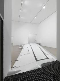 Roman Ondák, do not walk outside this area, 2012. Installation view, Deutsche Guggenheim, Berlin. Photo: Jens Ziehe. Courtesy the artist