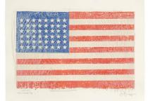Jasper Johns, Flag, 1967. Lithograph. � Jasper Johns/ Universal Limited Art Editions, 1967/ Licensed by VAGA, New York, NY.