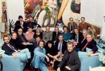 "The Photorealists at a party for the book  ""Photorealism Since 1980"", Meisel's loft, April 22, 1993. 
