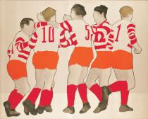 Konrad Lueg, Fu�ballspieler, 1963. Deutsche Bank Collection at the St�del Museum. � VG Bild-Kunst, Bonn