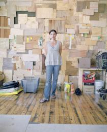 Phoebe Washburn in her studio, New York 2006 , � Photo: Ashkan Sahihi