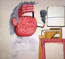 Philip Guston, Painter's Head, 1975. Private collection. © The Estate of Philip Guston