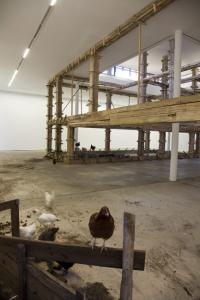 Petrit Halilaj, The places I'm looking for, my dear, are utopian places, they are boring and I don't know how to make them real. Installation view at 6th Berlin Biennial, 2010. Courtesy the artist and Chert, Berlin.
