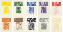 Jasper Johns, 0-9, 1963. Lithograph. Published by Universal Limited Art Editions