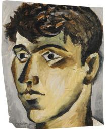John Craxton, Self-Portrait, Poros, 1946. Private Collection, Athens. Courtesy Kalfayan Galleries, Athens � Thessaloniki.  � VG Bild-Kunst, Bonn 2012. Photo: Yiannis and Odysseas Vaharides