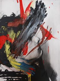 Arnulf Rainer, Face Farce, 1970. Courtesy Galerie Brigitte Schenk, Cologne.