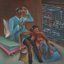 Bhupen Khakhar, Blind Man Looks in the Mirror and Has Relations with Wanton Woman, 1980