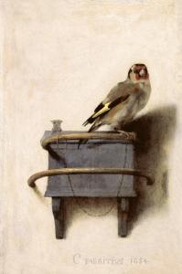 Carel Fabritius , The Goldfinch, 1654. Mauritshuis, The Hague