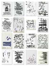 Lishan Chang, Id � by Van, 1997 � 1999 (1st part of Transition) About 500 sheets of drawing on documents, Courtesy of the Artist