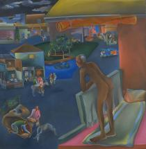 Bhupen Khakhar, You Can't Please All, 1981. Courtesy Tate Collection, London. ©  Estate of Bhupen Khakhar