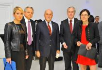 Dr Krzysztof Kalicki, CEO of Deutsche Bank Polska, Dr von Heydebreck, German Ambassador to Poland Ruediger Freiherr von Fritsch and Hanna Wroblewska, Director of Zacheta National Art Gallery