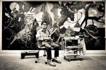 Rodel Tapaya in his Studio. Courtesy of MM Yu and the Artist.