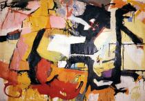 Audrey Flack, Abstract Force: Homage to Franz Kline, 1951-52, � Audrey Flack