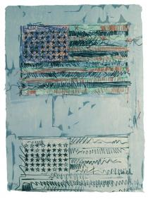 Jasper Johns, Flags II, 1970. Lithograph. � Jasper Johns/ Universal Limited Art Editions, 1970/ Licensed by VAGA, New York, NY.