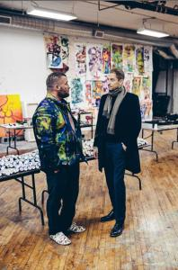 Stuart Comer meets Bjarne Melgaard in his studio, Bushwick, Brooklyn. Photo: Geordie Wood