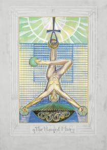 Aleister Crowley and Frieda Harris, Thoth Tarot, Atu XII - The Hanged Man, 1938-40. © Ordo Templi Orientis
