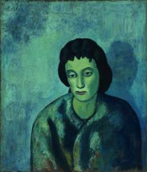 Pablo Picasso, Woman with Bangs, 1902.  Oil on canvas.  The Baltimore Museum of Art: The Cone Collection, formed by Dr. Claribel Cone and Miss Etta Cone of Baltimore, Maryland, BMA 1950.268.  � 2011 Estate of Pablo Picasso / Artists Rights Society (ARS), New York.