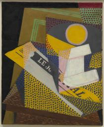 Juan Gris, Newspaper and Fruit Dish, March 1916. Solomon R. Guggenheim Museum, New York, Gift, Estate of Katherine S. Dreier
